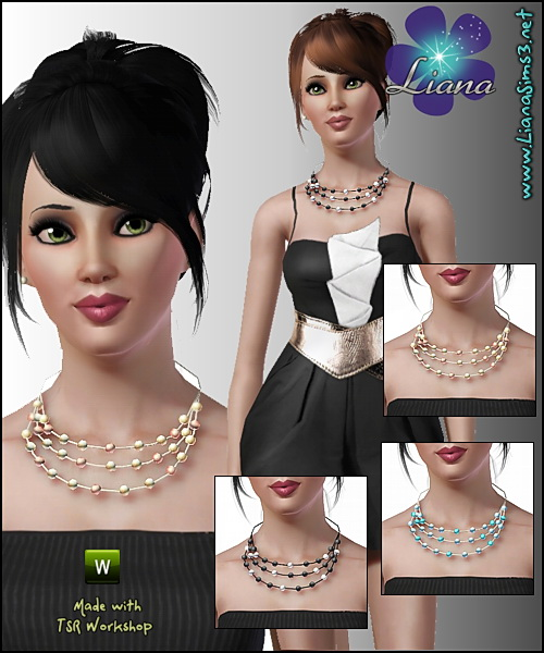 Pearl necklace available for teen, ya/adult and elder,  recolorable, matching bracelet available. Updated!!! IN PACKAGE FORMAT