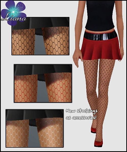 Net Tights - you can put any color on the net. Available for teen, ya/adult, elder.