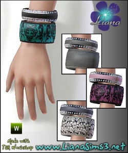 New custom mesh - 2 bangles, 4 color variations, recolorable. Updated!!! IN PACKAGE FORMAT