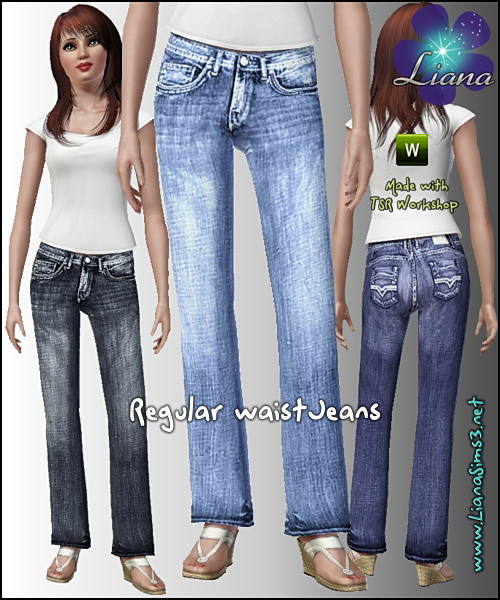 Regular waist acid wash jeans, recolorable!