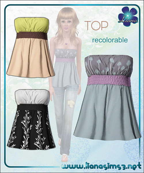 Tube top, recolorable