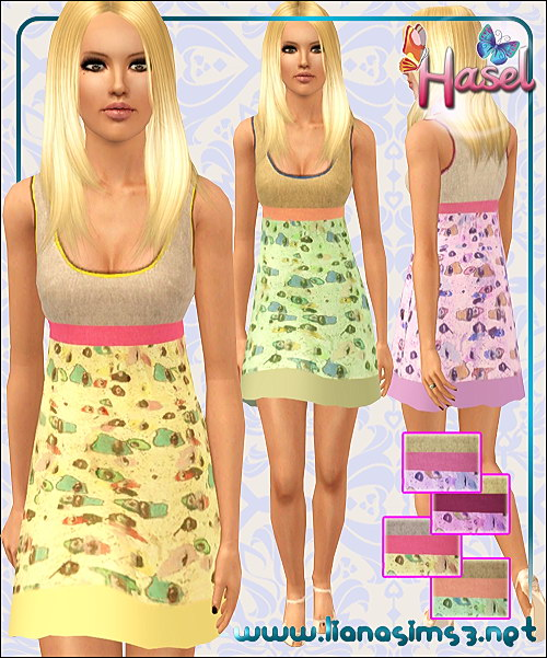 Pastel everyday babydoll dress, recolorable