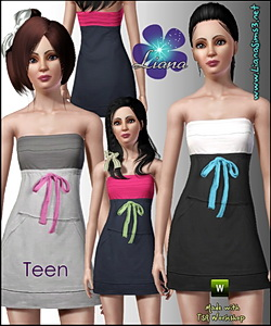 Sporty tube dress for teens! Recolorable