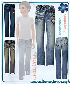 Jeans for sims 3 boys