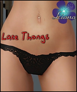 Roses lace thongs - you can use them with the lace bra for a complete set