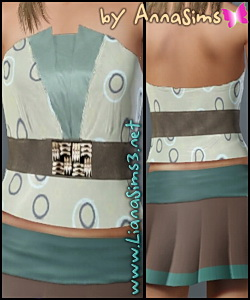 Tube belted top with 3 recolorable areas!