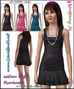 Mini teen dress with colorful necklace in 3 color variations! Custom CAS Thumbnails