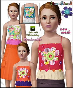Adorable children top, 2 styles included, 4 color variations, new mesh