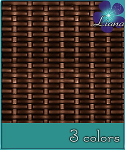 Rattan pattern - best suited for garden furniture! See the alternate colors for more combinations!
