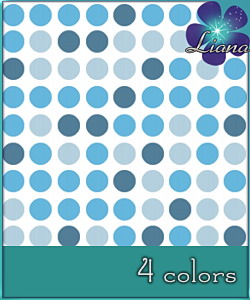 Dotted pattern in 4 colors - you can use it for fashion, bedding and decor! See the alternate colors for more combinations!