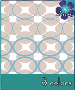 Magical circles pattern in 3 colors - you can use it for fashion, bedding and decor! See the alternate colors for more combinations!