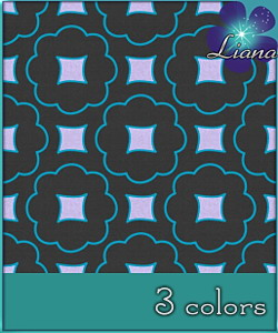 Pattern in 3 colors - best suited for wallpapers and furniture! See the alternate colors for more combinations!