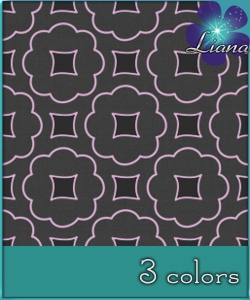 Pattern in 3 colors - best suited for wallpapers and furniture!