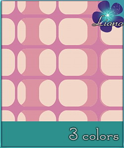 Pattern in 3 colors - best suited for wallpapers and floors!