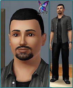 John Bruce - sims3 model - young adult male