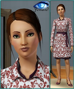 Bertine - sims3 model - young adult female